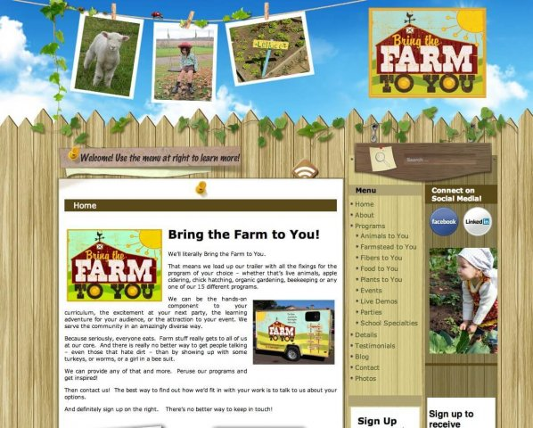 Website Design Screenshot of Bring Farm To You