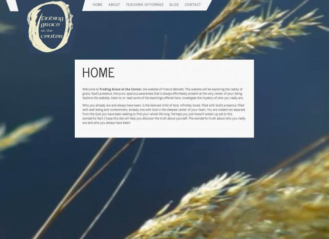 Website Design Screenshot of Finding Grace At Center