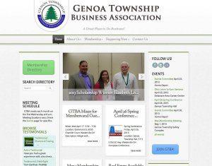 Website Design Screenshot of Genoa Township Business Association