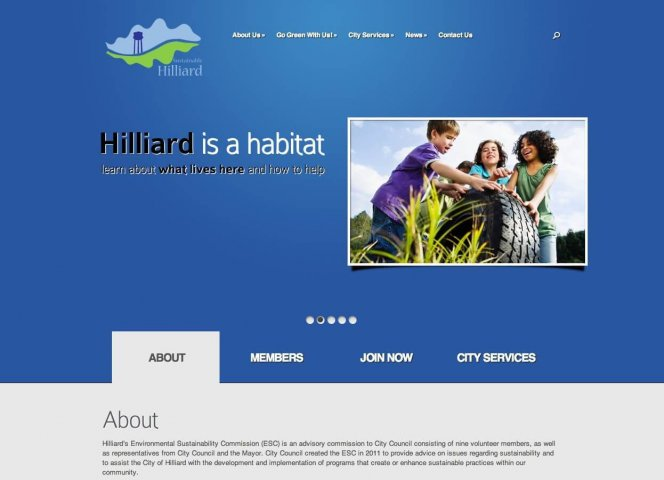 Website Design Screenshot of Go Green Hilliard