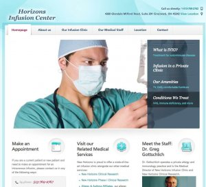 Website Design Screenshot of Horizons Infusion Center
