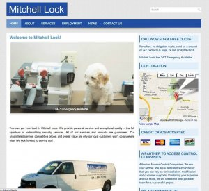 Website Design Screenshot of Mitchell Lock