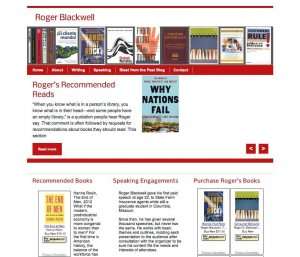 Website Design Screenshot of Roger Blackwell