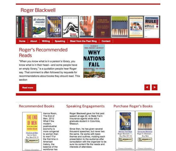 Website Design Screenshot of Roger Blackwell