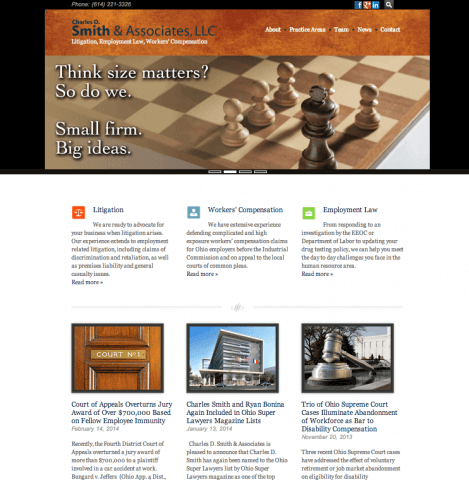 Website Design Screenshot of Charles D. Smith & Associates