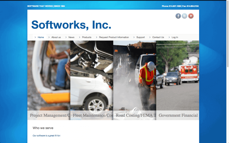 Website Design After Screenshot of Softworks