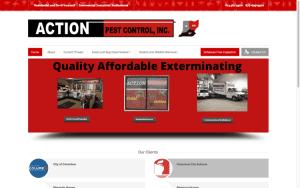 Website Design After Screenshot of Action Pest Control