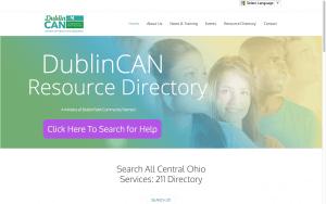 Website Design Screenshot of DublinCAN
