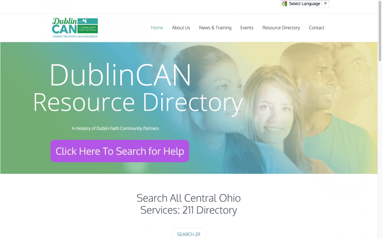 Website Design Screenshot of DublinCAN
