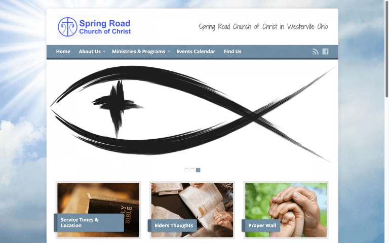 Website Design After Screenshot of Spring Road Church of Christ