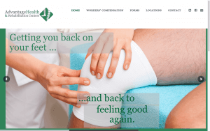 Website Design After Screenshot of Advantage Health and Rehabilitation Centers