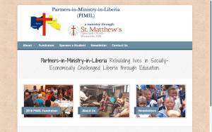 Website Design After Screenshot of Partners-in-Ministry-in-Liberia