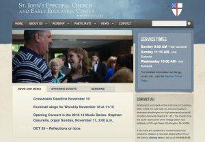 Website Design Screenshot of St. John's Episcopal Church