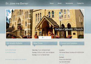 Website Design Screenshot of St. John the Baptist