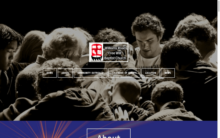 Website Design Screenshot of Williams Road Free Will Baptist Church