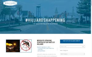 Website Design Screenshot of City of Hilliard