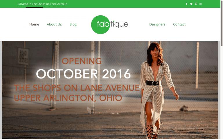 Website Design Screenshot of Fabtique