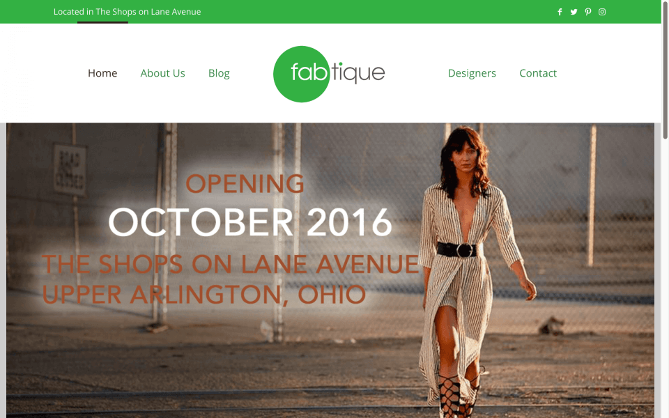 Website Design Screenshot of Fabtique