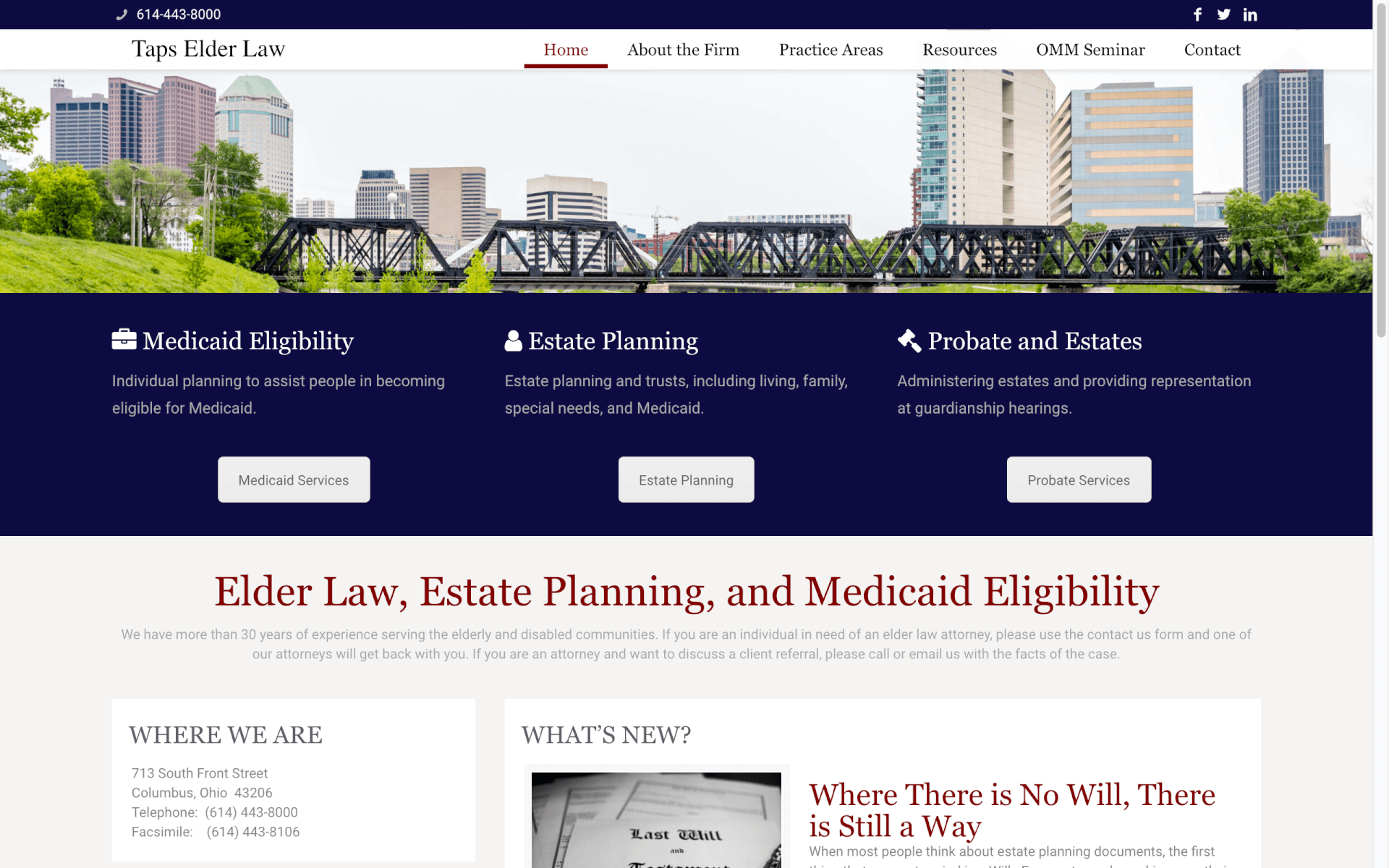 Featured Client Law Firm Website
