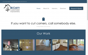 remodeling company website redesign screenshot